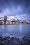 Brooklyn Bridge and Lower Manhattan/Downtown, New York City, New York, USA Photographic Print by Jon Arnold