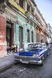 Classic 50s America Car in the Streets of Centro Habana, Havana, Cuba Photographic Print by Jon Arnold
