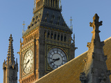 Palace of Westminster, Westminster, London. St Stephens Tower Detail Photographic Print by Richard Bryant