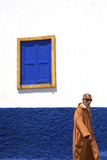 Person Walking in Oudaia Kasbah, Rabat, Morocco, North Africa Photographic Print by Neil Farrin