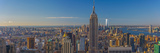 Usa, New York, Midtown and Lower Manhattan, Empire State Building and Freedom Tower Papier Photo par Alan Copson