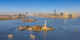 Statue of Liberty, Jersey City and Lower Manhattan, New York City, New York, USA Photographic Print by Jon Arnold