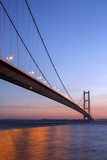 Europe, United Kingdom, England, East Yorkshire, Hull, Humber Bridge Photographic Print by Mark Sykes