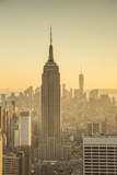 Empire State Building (One World Trade Center Behind), Manhattan, New York City, New York, USA Photographic Print by Jon Arnold