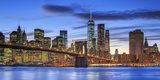 Usa, New York, New York City, Lower Manhattan and Brooklyn Bridge Photographic Print by Michele Falzone