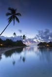 Overwater Bungalows of Intercontinental Mo'Orea Resort, Hauru Point, Moorea Photographic Print by Ian Trower