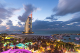 Jumeirah Beach, Burj Al Arab Hotel, Dubai, United Arab Emirates, Middle East Photographic Print by Gavin Hellier