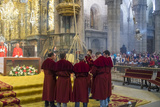The Botafumeiro - an Incense Burner During Service in Cathedral, Santiago De Compestela, Galicia Photographic Print by Peter Adams