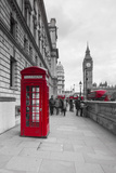 Big Ben, Houses of Parliament and a Red Phone Box, London, England Fotografie-Druck von Jon Arnold