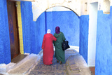 People Walking in Oudaia Kasbah, Rabat, Morocco, North Africa Photographic Print by Neil Farrin
