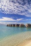 Overwater Bungalows of Sofitel Hotel, Moorea, Society Islands, French Polynesia (Pr) Lámina fotográfica por Ian Trower