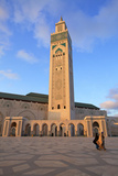 Exterior of Hassan Ll Mosque, Casablanca, Morocco, North Africa Photographic Print by Neil Farrin