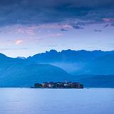 Isola Dei Pescatori (Fishermen's Islands) Illuminated at Dusk, Borromean Islands, Lake Maggiore Photographic Print by Doug Pearson