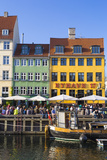 Denmark, Hillerod, Copenhagen. Colourful Buildings Along the 17th Century Waterfront of Nyhavn. Photographic Print by Nick Ledger