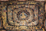Romania, Transylvania, Sinaia, Sinaia Monastery, Small Church, Exterior Frescoes Photographic Print by Walter Bibikow