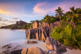 Anse Source D'Argent Beach, La Digue, Seychelles Photographic Print by Jon Arnold