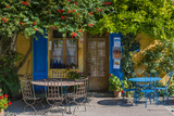 Ivy Surrounded House Front Door with Table and Chairs in Provence, France Photographic Print by Stefano Politi Markovina