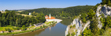 Elevated View over Weltenburg Abbey and the River Danube, Lower Bavaria, Bavaria, Germany Photographic Print by Doug Pearson