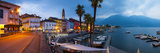 Ascona's Picturesque Lakeside Promenade and Boat Harbour Illuminated at Dusk, Ascona Photographic Print by Doug Pearson