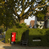 Post Box and Bench, Meadway, Hampstead Garden Suburb, London Photographic Print by Richard Bryant