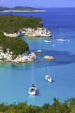 Elevated View of Voutoumi Bay, Antipaxos, the Ionian Islands, Greek Islands, Greece, Europe Photographic Print by Neil Farrin