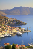 Boats in Symi Harbour from Elevated Angle, Symi, Dodecanese, Greek Islands, Greece, Europe Photographic Print by Neil Farrin
