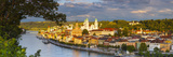 Elevated View Towards the Picturesque City of Passau Illuminated at Sunset, Passau, Lower Bavaria Photographic Print by Doug Pearson