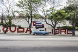 Revolutionary Sign on Calle 23, Vedado, Havana, Cuba Photographic Print by Jon Arnold