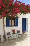 Tavern in Lefkes, Paros Island, Cyclades, Greece Photographic Print by Katja Kreder