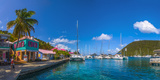 Caribbean, British Virgin Islands, Tortola, Sopers Hole Fotografisk tryk af Alan Copson