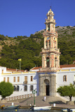 Moni Taxiarchi Michail Panormiti Monastery, Symi, Dodecanese, Greek Islands, Greece, Europe Photographic Print by Neil Farrin