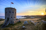 Sunrise at Martello Tower No 5, L'Ancresse Bay, Guernsey, Channel Islands Photographic Print by Neil Farrin
