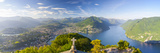 Elevated View over Lugano from Monte San Salvatore, Lake Lugano, Ticino, Switzerland Photographic Print by Doug Pearson