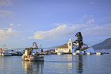 Vlacherna Monastery, Kanoni, Corfu, the Ionian Islands, Greek Islands, Greece, Europe Photographic Print by Neil Farrin