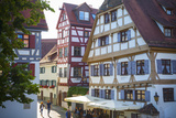 Ornate Half Timbered Houses in Ulm's Fishermen and Tanners' District, Ulm, Baden-Wurttemberg Photographic Print by Doug Pearson