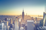 Usa, New York, New York City, Empire State Building and Midtown Manhattan Skyline Photographic Print by Michele Falzone