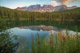 Carezza's Lake, Dolomites, Bolzano, Trentino Alto Adige, Italy. Photographic Print by  ClickAlps
