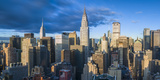 Chrysler Building and Empire State Building, Midtown Manhattan, New York City, New York, USA Photographic Print by Jon Arnold