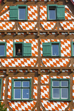 Ornate Half Timbered House in Ulm's Fishermen and Tanners' District, Ulm, Baden-Wurttemberg Photographic Print by Doug Pearson