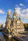 Domes of Church of the Saviour on Spilled Blood, Saint Petersburg, Russia Photographic Print by Gavin Hellier
