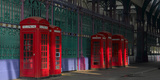 Red Telephone Boxes, Smithfield Market, Smithfield, London Photographic Print by Richard Bryant