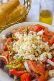 Greek Panzanella Salad, Kalymnos, Dodecanese, Greek Islands, Greece, Europe Photographic Print by Neil Farrin
