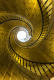 Triple Spiral Staircase of Floating Stairs. Convent of Santo Domingo De Bonaval Photographic Print by Peter Adams