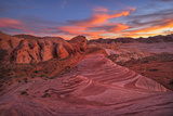 Usa, Southwest,Nevada, Valley of Fire, State Park, Fire Wave Photographic Print by Christian Heeb