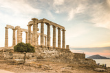 Greece, Attica, Cape Sounion, Temple of Poseidon Photographic Print by Jane Sweeney