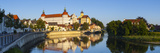 Neuburg Castle Reflected in the River Danube, Neuburg, Neuburg-Schrobenhausen, Bavaria, Germany Photographic Print by Doug Pearson