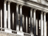 Bank of England, Threadneedle Street, City of London. Detail of Pediment and Columns Photographic Print by Richard Bryant