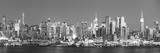 Usa, New York, New York City, Manhattan Skyline from New Jersey Fotografisk tryk af Michele Falzone