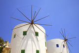 Windmills Converted for Accommodation, Leros, Dodecanese, Greek Islands, Greece, Europe Photographic Print by Neil Farrin