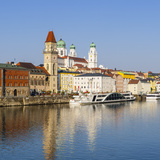 Old Town Skyline and the River Danube, Passau, Lower Bavaria, Bavaria, Germany Photographic Print by Doug Pearson